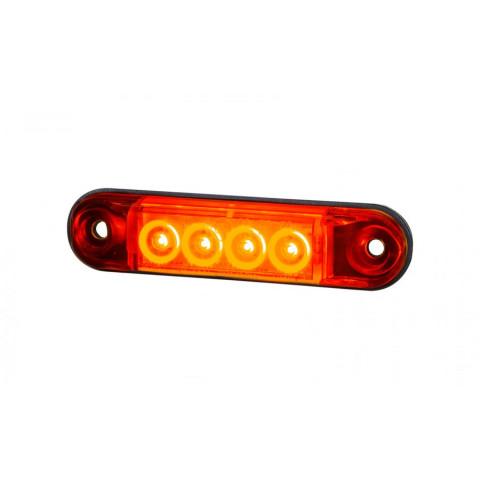 Lampa LED obrysowa przednia biała SLIM LD2327