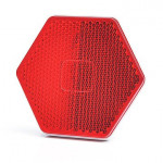 Rückseitiger selbstklebende Reflektor Rot 1203