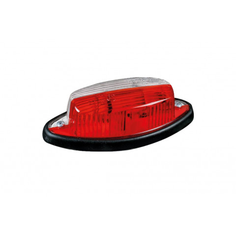 Front rear end-outline lamp white-red oval (010-2)