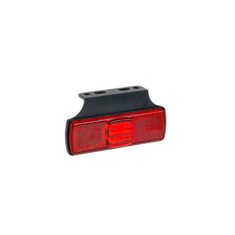 Lampa LED obrysowa czerwona z uchwytem (017KC)