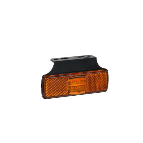 Lampa LED obrysowa żółta z uchwytem (017KZ)