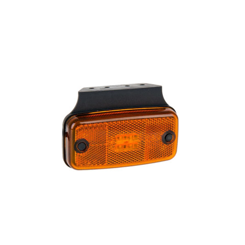 Lampa LED obrysowa żółta z uchwytem (019KZ)