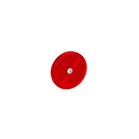 Odblask okrągły śr. 60mm czerwony (DOB033C)