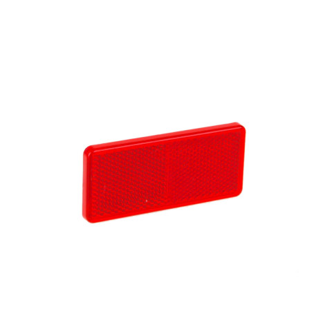 Reflective device 90x40 mm red DOB035C