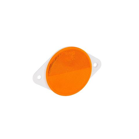 Odblask okrągły żółty 78mm przykręcany (DOB039Z)