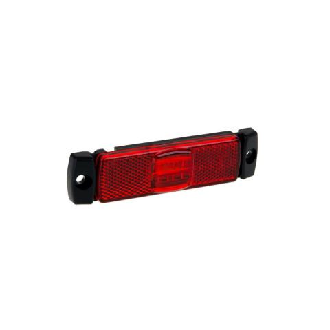 Lampa LED obrysowa czerwona 12V-36V FT017C