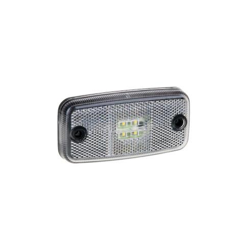 Lampa LED obrysowa biała 12V-36V (FT019B)