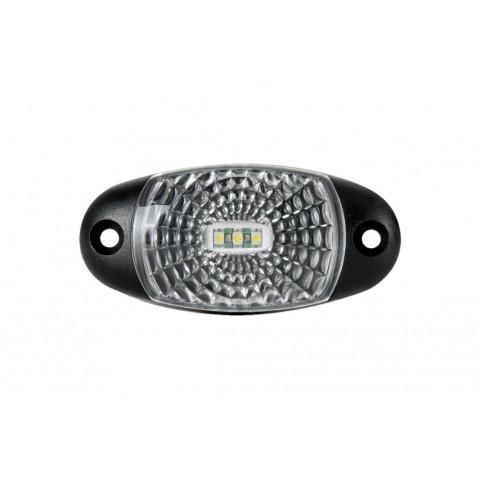 Lampa LED obrysowa biała z przewodem (FT025B)