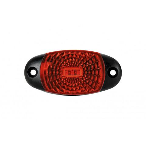 Lampa LED obrysowa czerwona z przewodem (FT025C)