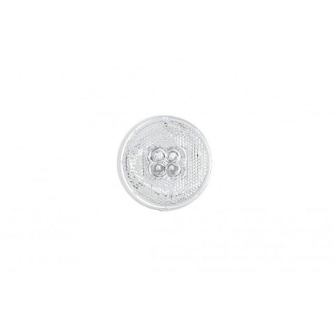 Lampa LED obrysowa odblask okrągła biała 060B