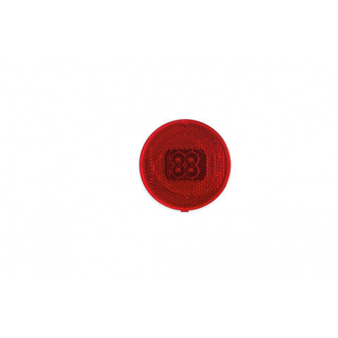 LED clearance lamp reflector round red 060C