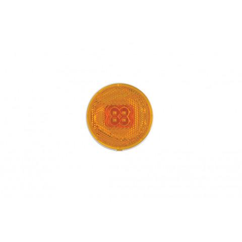 Lampa LED obrysowa odblask okrągła żółta 060Z
