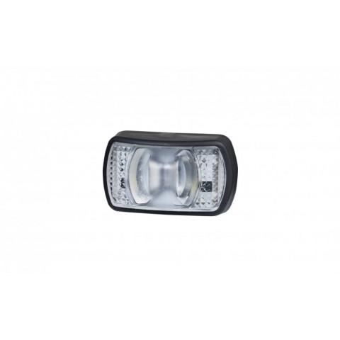 LED front clearance lamp white SLIM 12V-24V LD2327