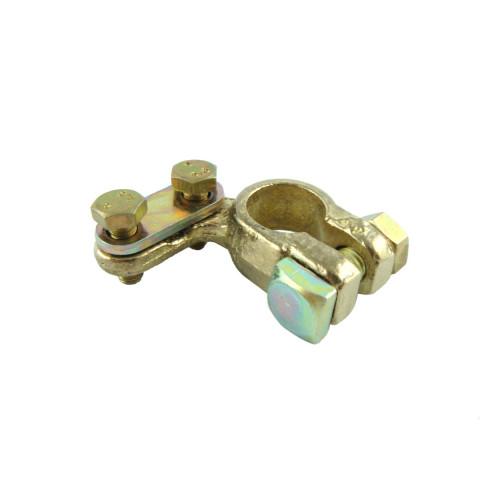 "Brass battery terminal clamp ""+"" positive"