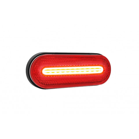 Lampa LED obrysowa czerwona 12V-36V 070C