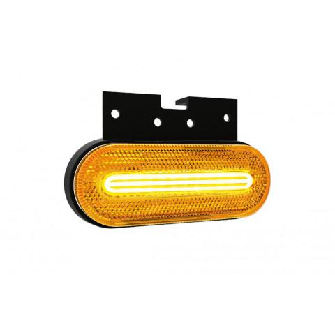Lampa LED obrysowa żółta z uchwytem 12V-36V 070ZK