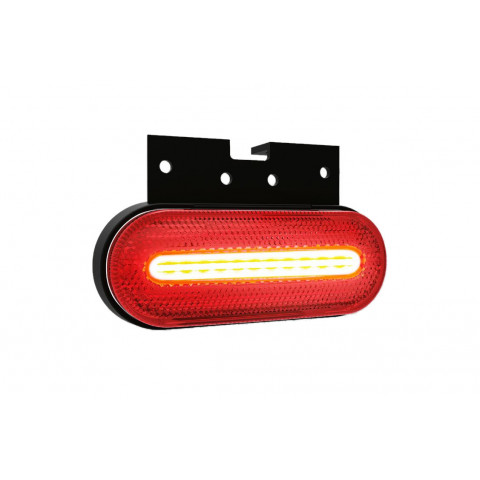LED clearance lamp red with holder 12V-36V 070CK