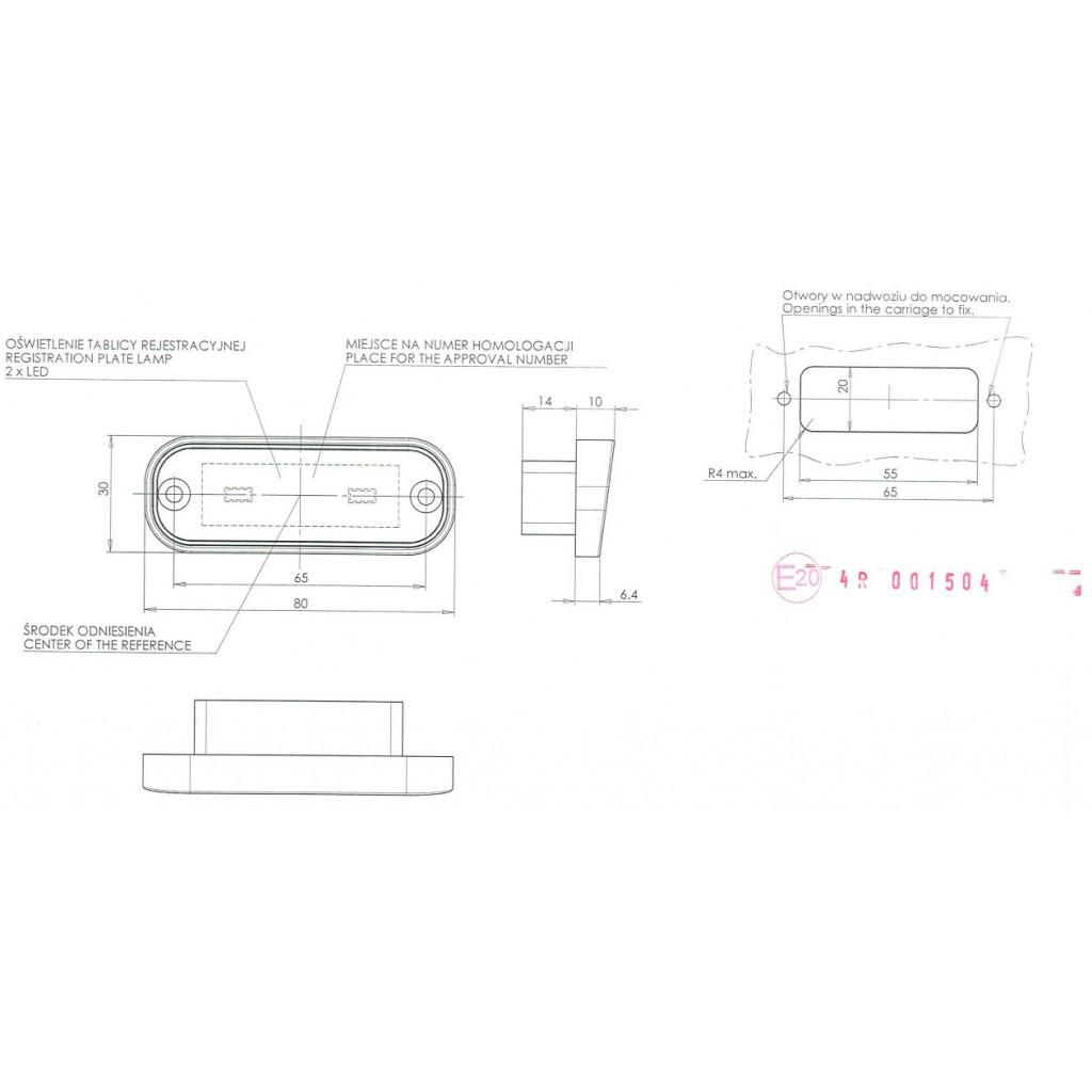 Led Numberplate Lamp 12v 24v 982 Autoledspl
