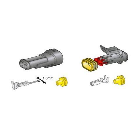 Złącze kablowe SuperSeal 6-przewodowe 1,5mm TQZ-36ABS