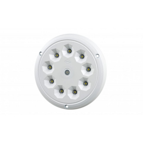LED interior lighting lamp round with switch ALU LWD2153