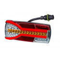 Multifunctional LED rear lamp 7 functions Carmen LEFT 7pin LZD2302
