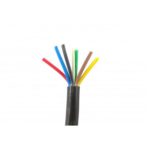 Przewód elektryczny 7-żyłowy PE6x0.75+1mm2