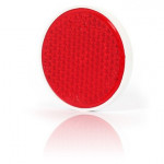 Odblask przykręcany czerwony okrągły śr. 75mm (28)