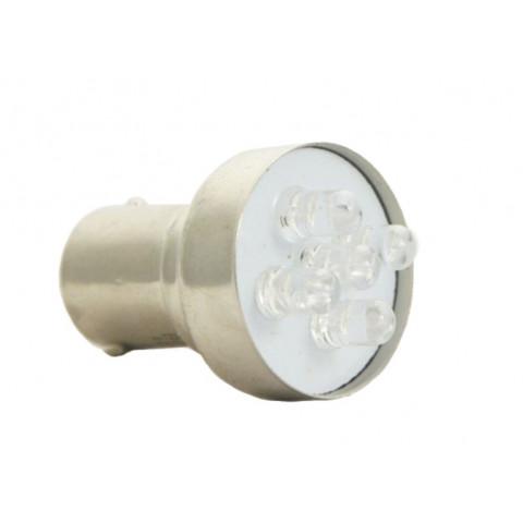 LED bulb 12V BA15S white standard BOSMA 2pcs 2076