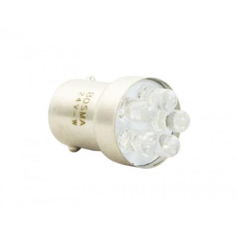 LED bulb 24V BA15S white standard BOSMA 2pcs 7255