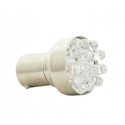 LED bulb 24V BA15S white standard BOSMA 2pcs 7057