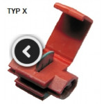 Electrical quick coupler type X, 0,25-1mm2, isolation colour red TKX-03KB