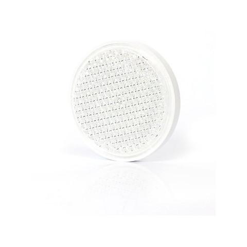 Odblask przykręcany biały okrągły śr. 75mm (29)