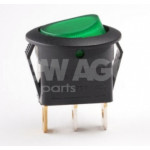 Backlit breaker, round, green 12V20A 162