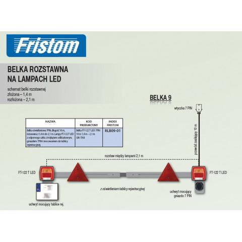 LED spacing beam 2xFT-122T LED RLB09-01