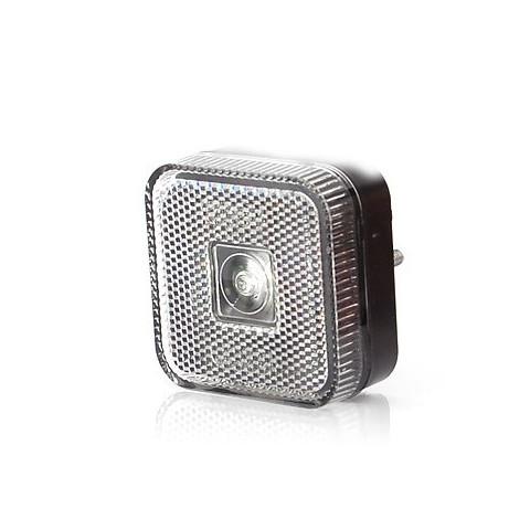 Lampa LED obrysowa przednia biała kwadratowa (303)