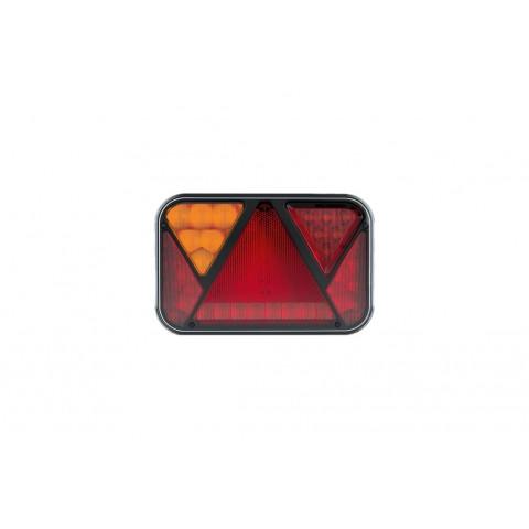 Lampa LED tylna LEWA z trójkątem odblaskowym 12V 5-funkcyjna FT-270L NT LED PM