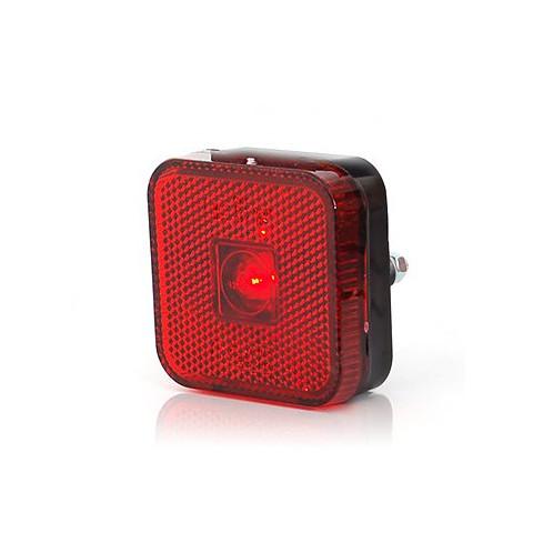 Lampa LED obrysowa tylna czerwona kwadratowa (304)