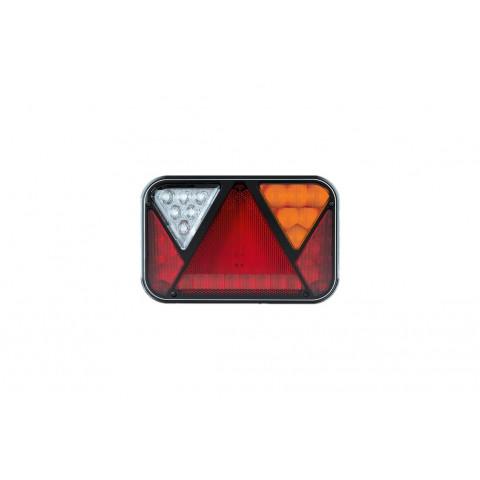 Lampa LED tylna PRAWA z trójkątem odblaskowym 12V 5-funkcyjna FT-270P NT LED COF