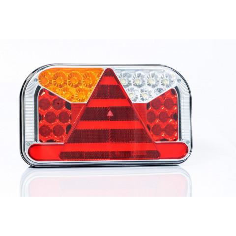 LED rear lamp 7 functions with side license plate light 12-36V LEFT FT-170L TB