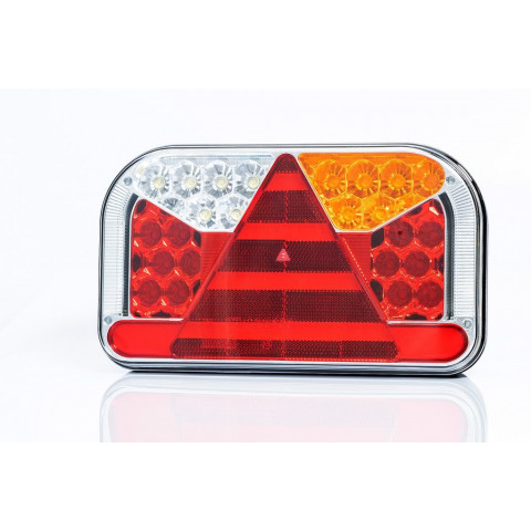 LED rear lamp 7 functions with side license plate light 12-36V RIGHT FT-170L TB