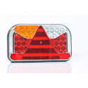 LED rear lamp 7 functions with lower license plate light 12-36V LEFT FT-170L TD