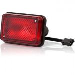 Lampa pozycyjna tylna czerwona prostokątna (61)