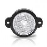 Lampa LED obrysowa przednia biała okrągła (650)