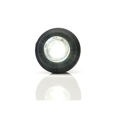 Lampa LED obrysowa przednia biała okrągła (668)