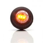 Lampa LED pozyc. boczna pomarańczowa okrągła (670)