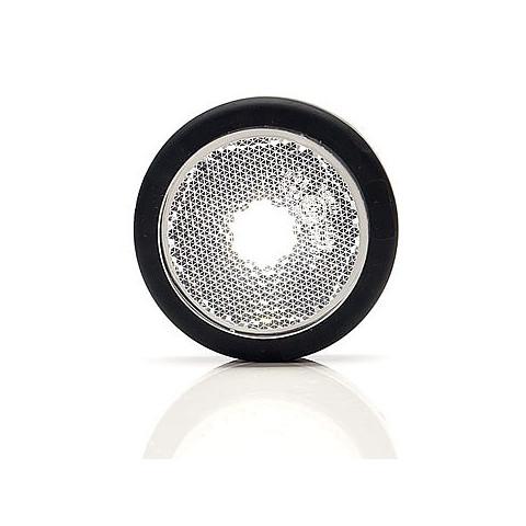 Lampa LED obrysowa przednia biała okrągła (678)