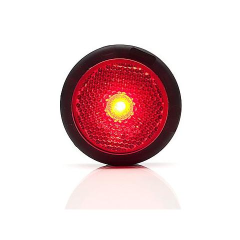 Lampa LED obrysowa tylna czerwona okrągła (679)