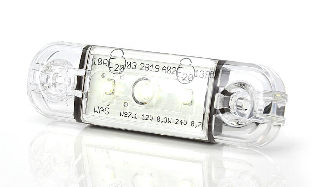 Lampa LED pozycyjna przednia biała 3LED (710)
