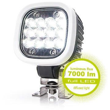 led arbeitsscheinwerfer 7000lm streulicht licht 12 led 12v. Black Bedroom Furniture Sets. Home Design Ideas